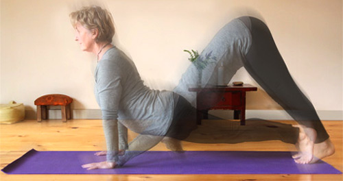 Janet Coutts demonstrates a variety of postures to suit different needs
